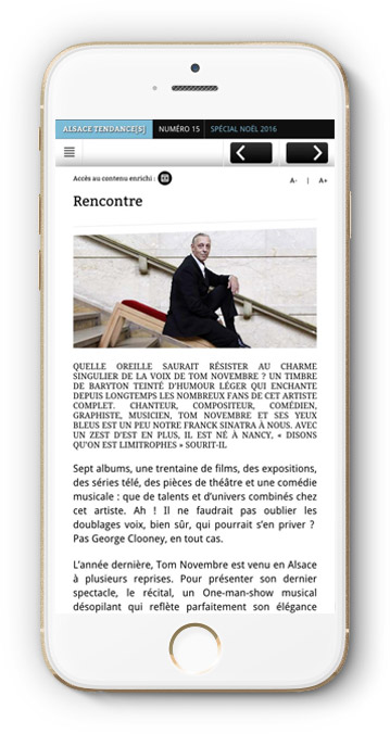 application iPhone webmagazine