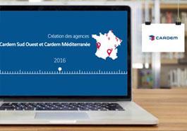 Logotype Animation en motion design pour la société CARDEM