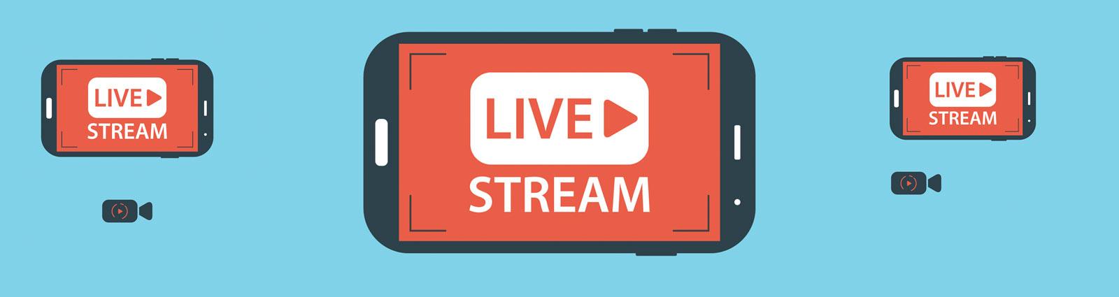 Prestations audiovisuelles de live streaming pour youtube, facebook et les réseaux sociaux