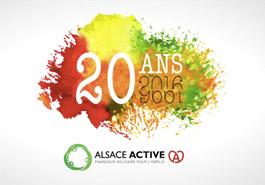 Logotype Les 20 ans d'Alsace Active en motion design